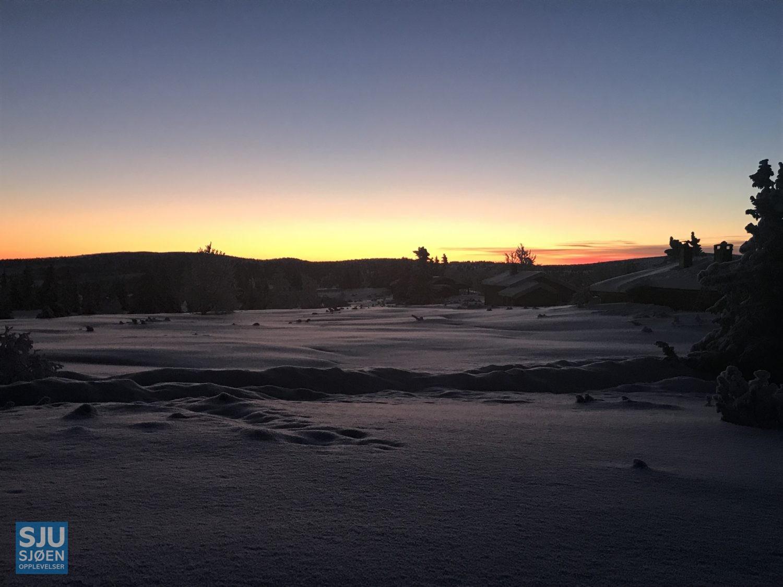 Vinterbilde fra Sjusjøen